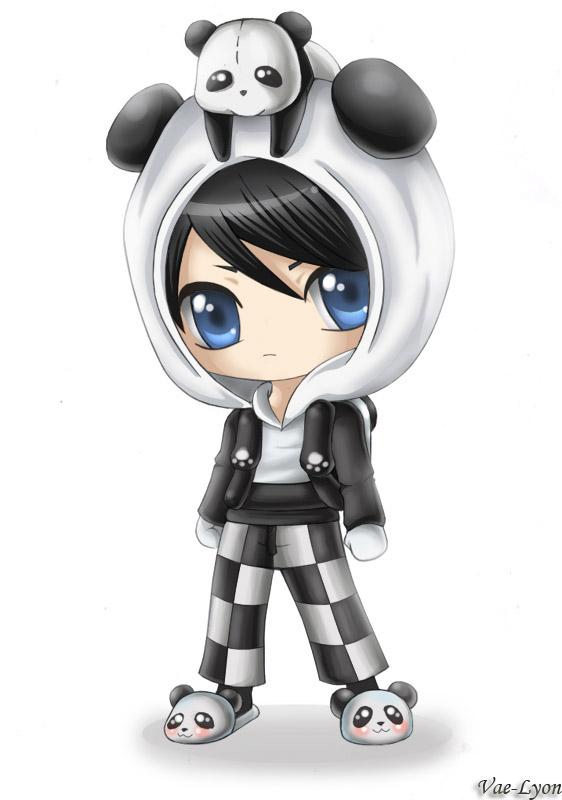 Chibi Panda Boy by Vae...