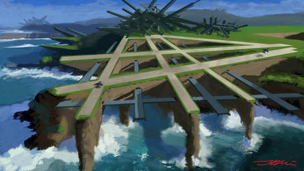 Bohdan Jankovic - Sci-Fi Landscape Concept 2