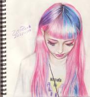 Pink hair by ZitaPun