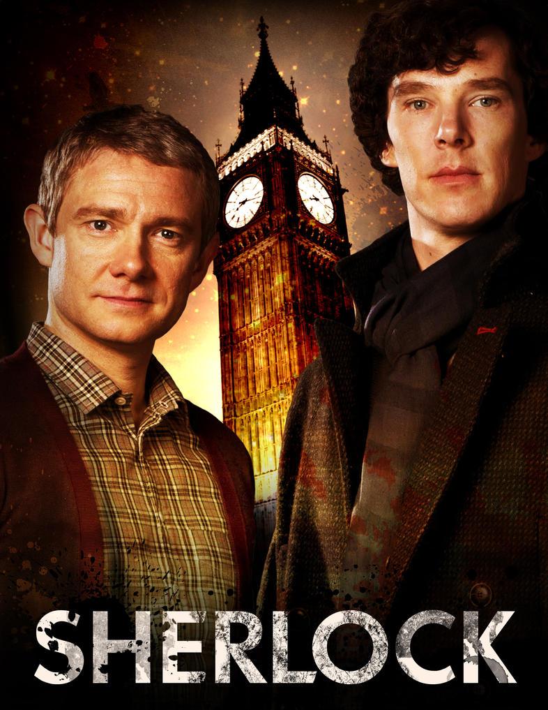 sherlock poster print by Vuel