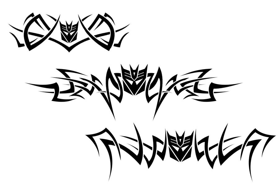 decepticon tribal tattoos by bee930 on deviantart. Black Bedroom Furniture Sets. Home Design Ideas