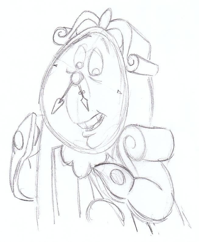 Cogsworth Sketch By SuperRamen