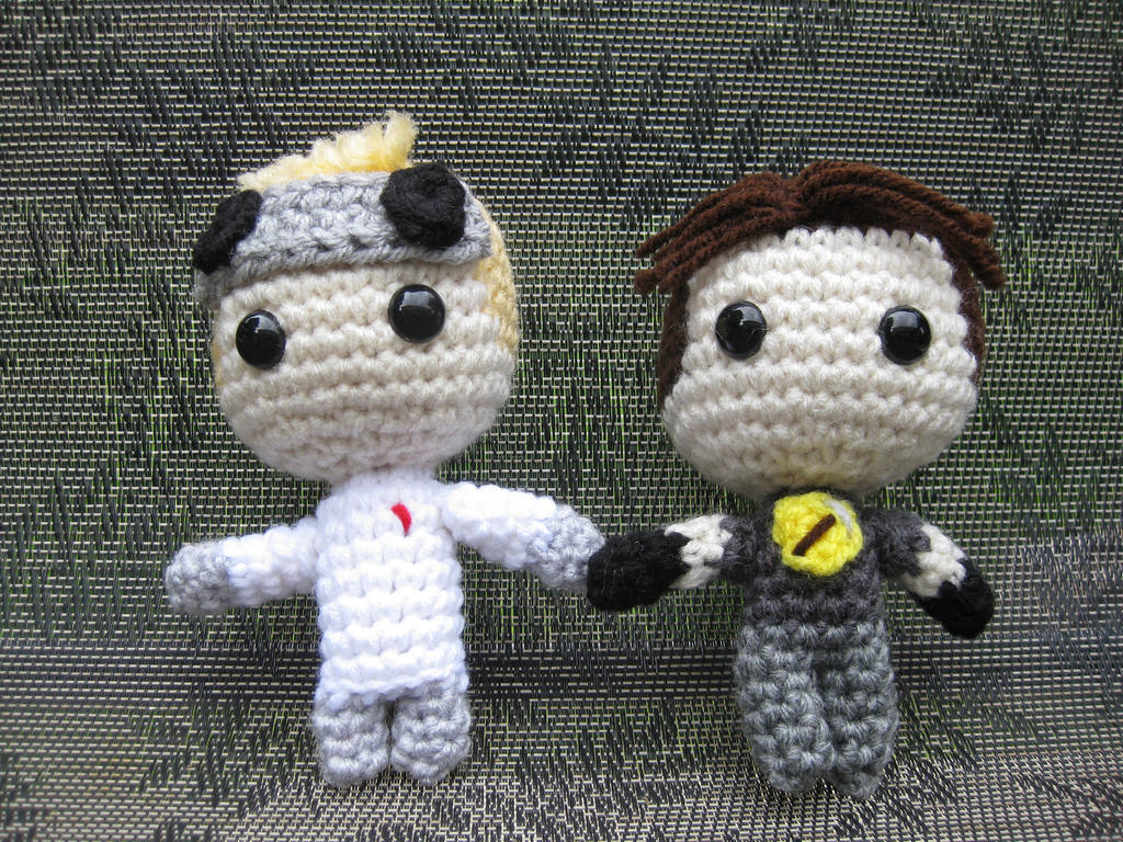 Dr. Horrible and Captain Hammer by WolfandSquid