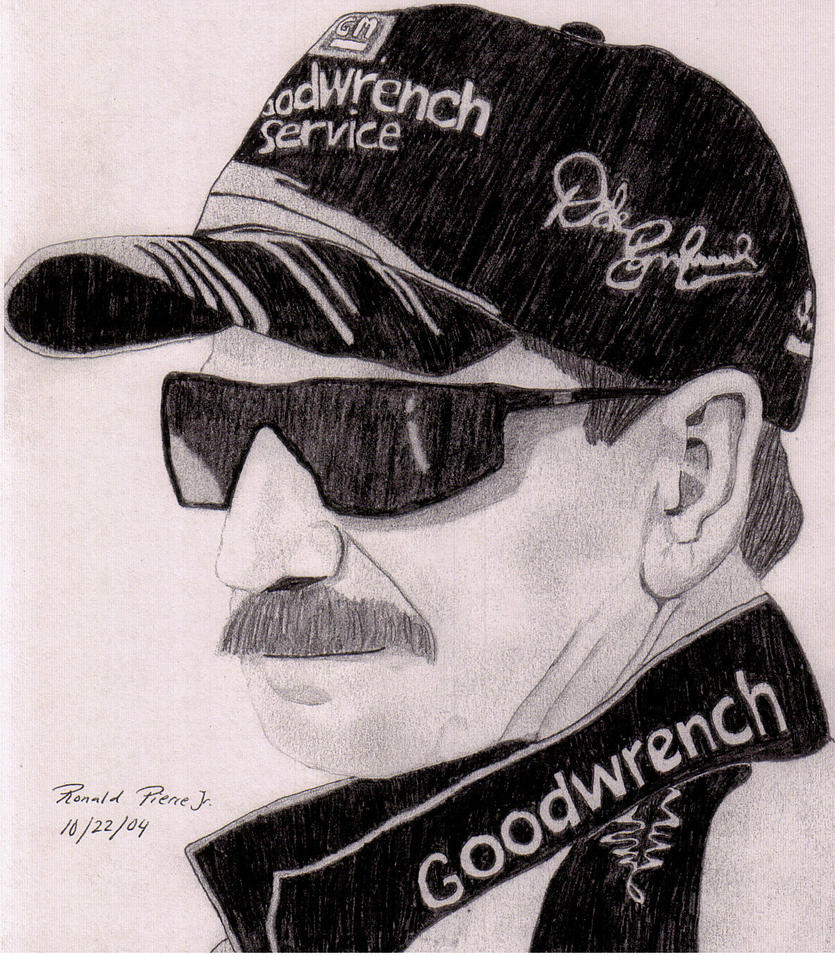 dale earnhardt jr coloring pages - dale earnhardt sr by ronaldpiercejr on deviantart