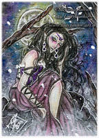 ACEO :: Domina Noctis by StefaniaRusso