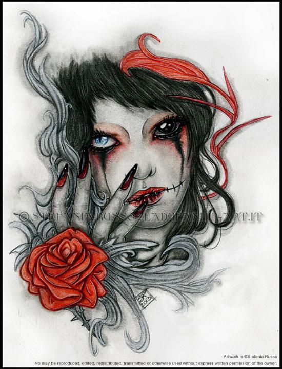 tattoo bloody tears by stefaniarusso on deviantart. Black Bedroom Furniture Sets. Home Design Ideas