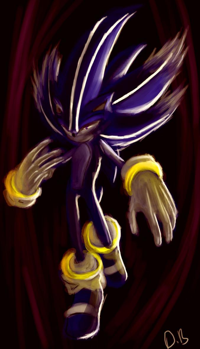 Dark Spined Super Were Sonic By Psykotsu