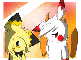 Levina and Ryuu ~ Art Trade by Sammu-Desu