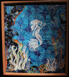 Fabric Art - The Mermaid by Caraut