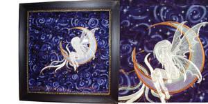 Moon Fairy - Textile Art by CARAUT