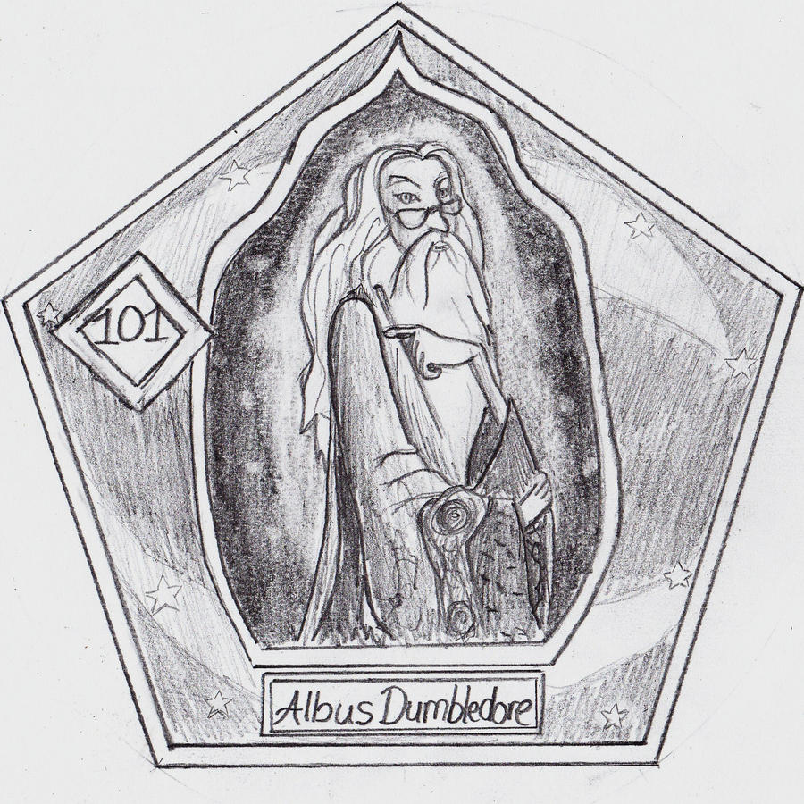 dumbledore chocolate frog card by lovelyhufflepuff on deviantart