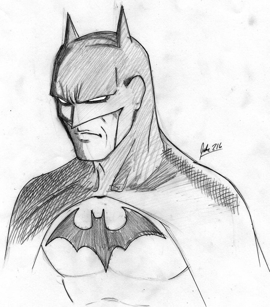 Dark Knight Sketch By Jokar216 On DeviantArt