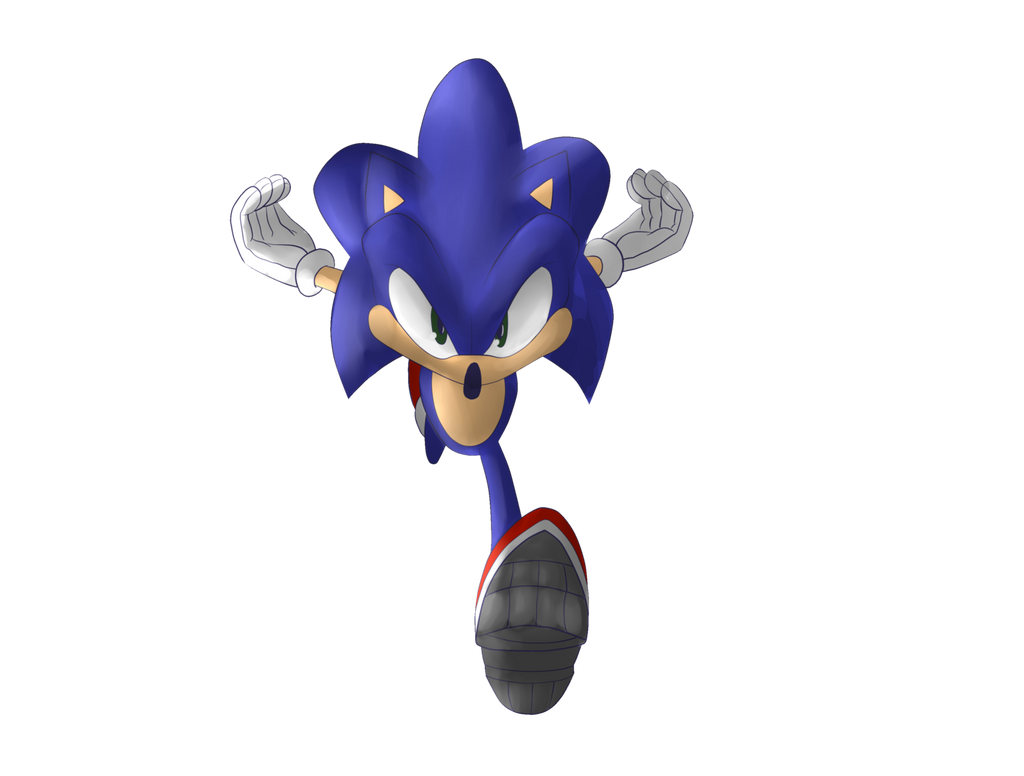Commission: Transparent Sonic by Jokar216