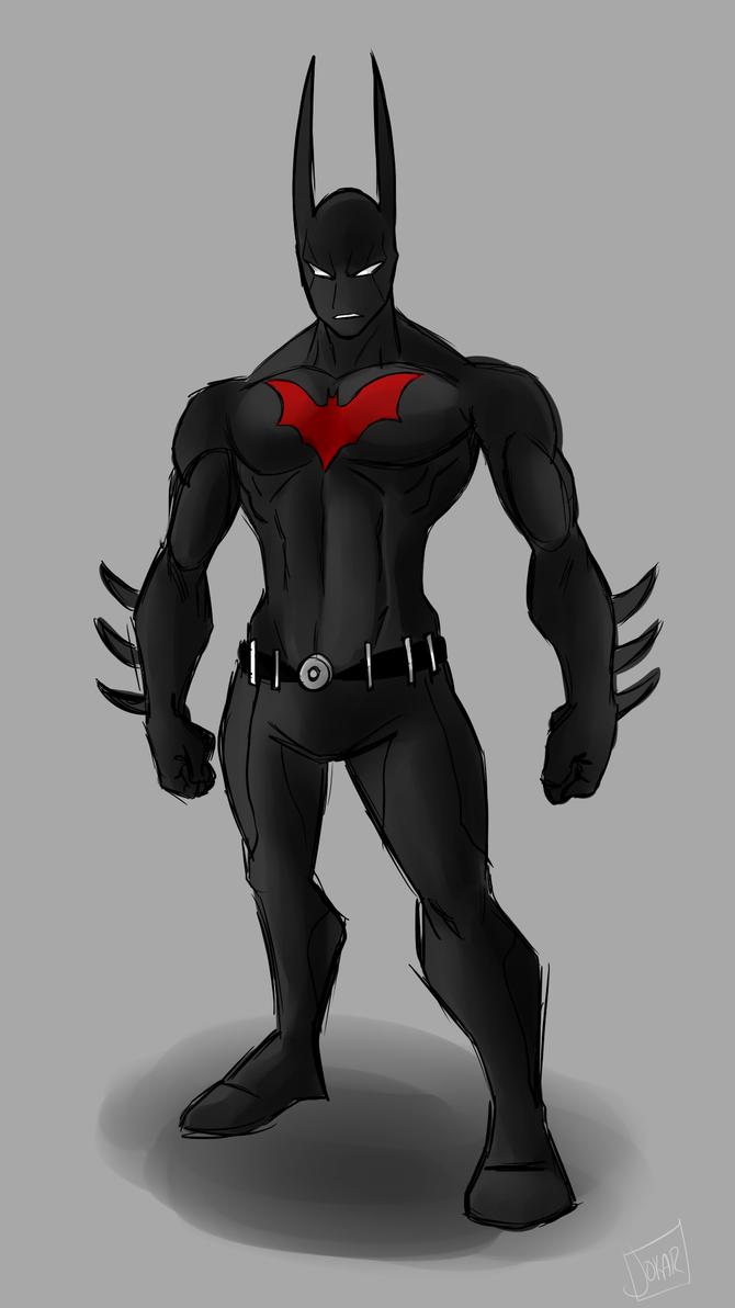 Boredome Sketch: Batman Beyond by Jokar216