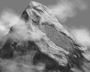 Mountain painting by inductivegnome