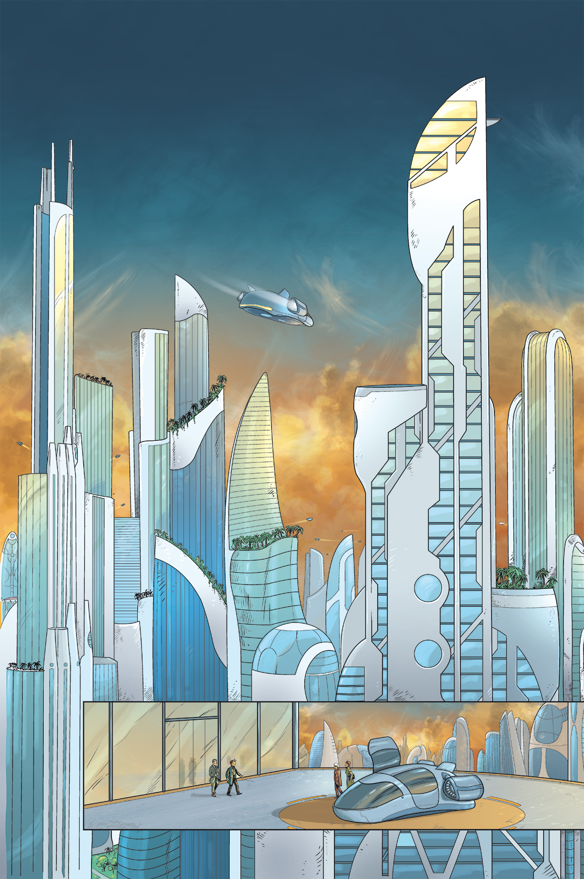 Metropolis -- die erste Seite des ersten MARK-BRANDIS-Comics