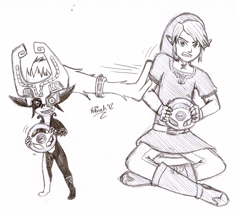 Otp day 3 midna and link by meta akira on deviantart for Midna coloring pages