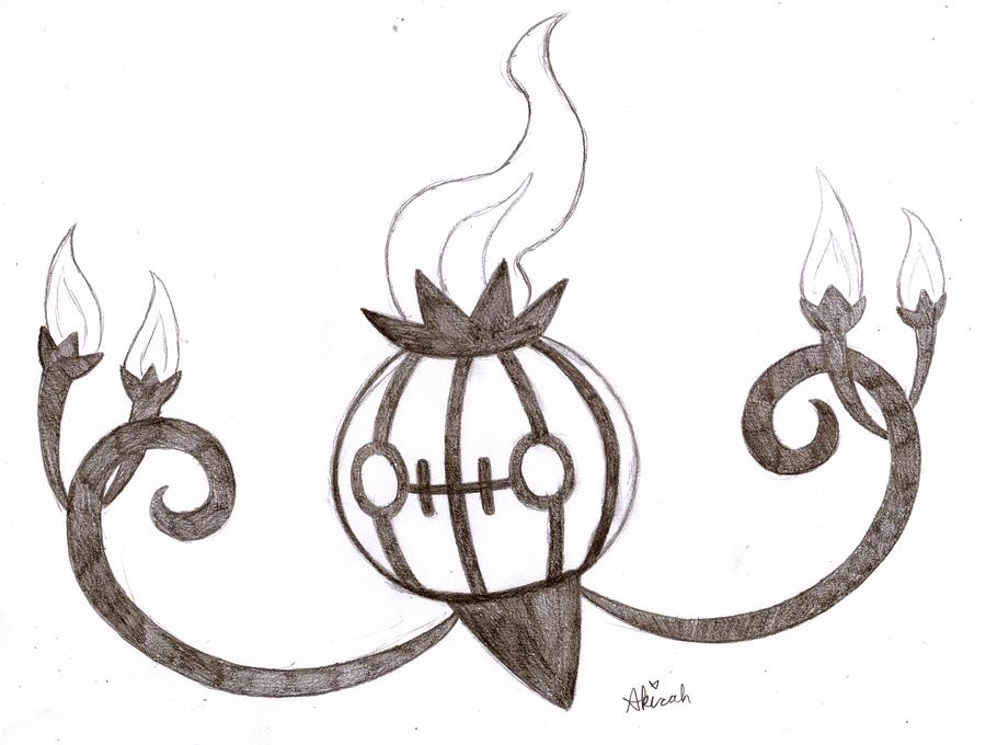 Chandelure Jack-o-Lantern Sketch by Meta-Akira on DeviantArt