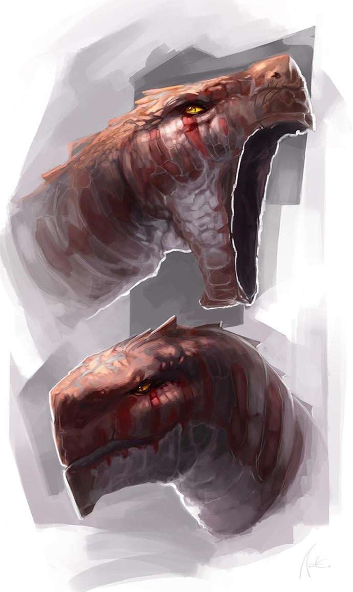 Dragon heads! by Anritco