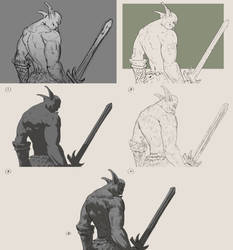 Lineart Style Quest - Orc dude