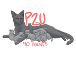 P2U Mother Cat + Litter base with shading