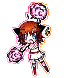 KeyChain - Me in PompomGirl by Tanusi