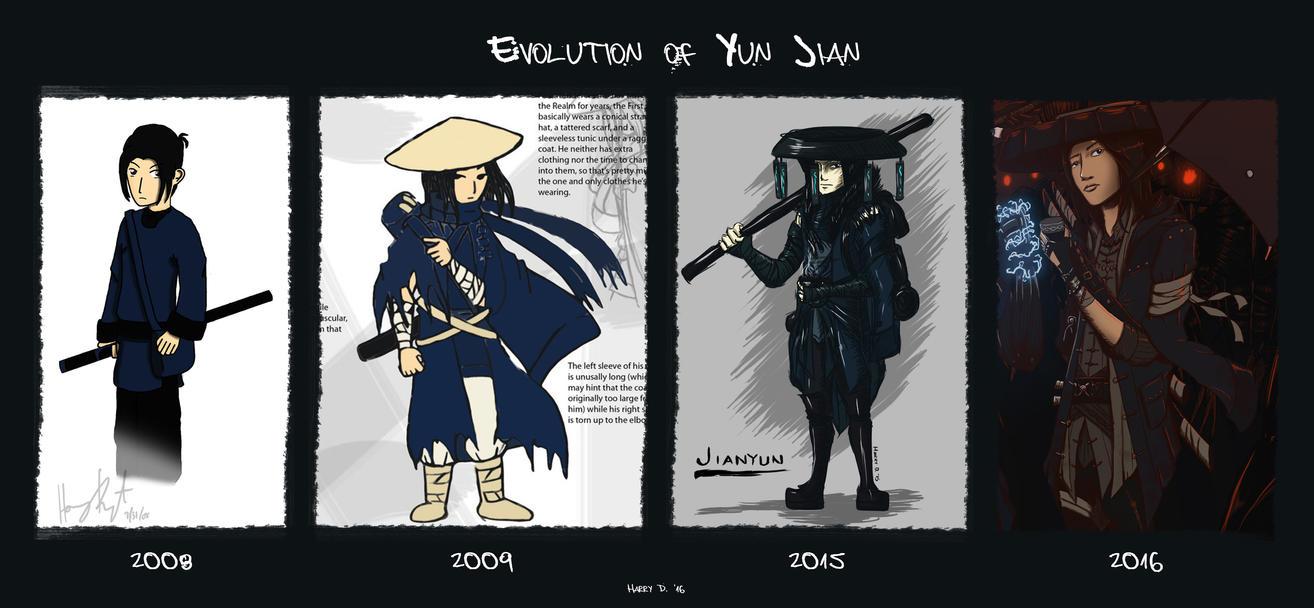 Evolution of Yun Jian by Tevarro