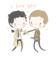 Destiel2 by demialien