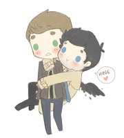 Destiel3 by demialien