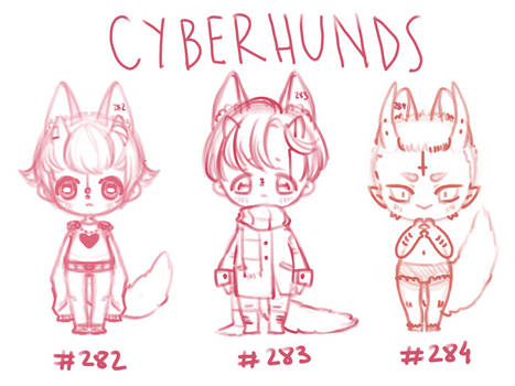 CHEAP LAZY SKETCH CYBERHUNDS [ CLOSED ]