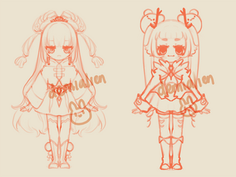 Sketch Adopt #6 and #7 SET PRICE [ 1/2 OPEN ]