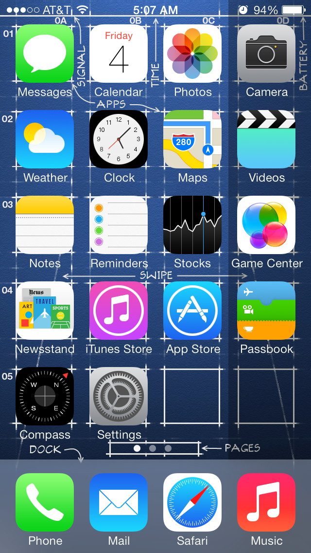 how to screenshot on iphone 5 iphone 5 s ios 7 blueprint screenshot 640x1136 by 3596