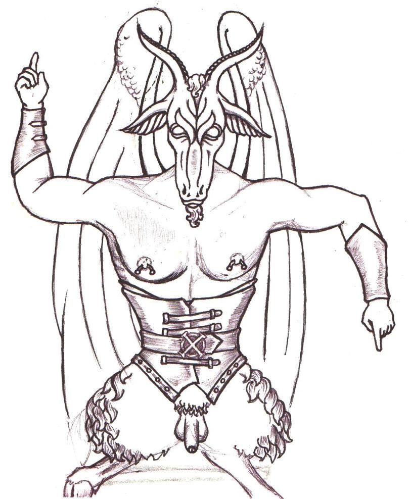 Pierced Satan - chest tattoo