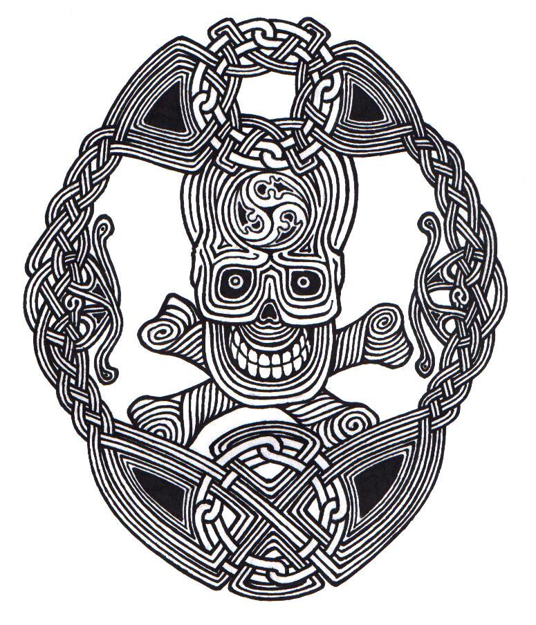 Celtic skull knot by ppunker on deviantart for Celtic skull tattoo