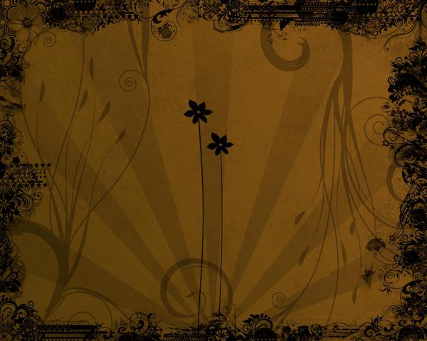 Vector Flowers Wallpaper by grazx