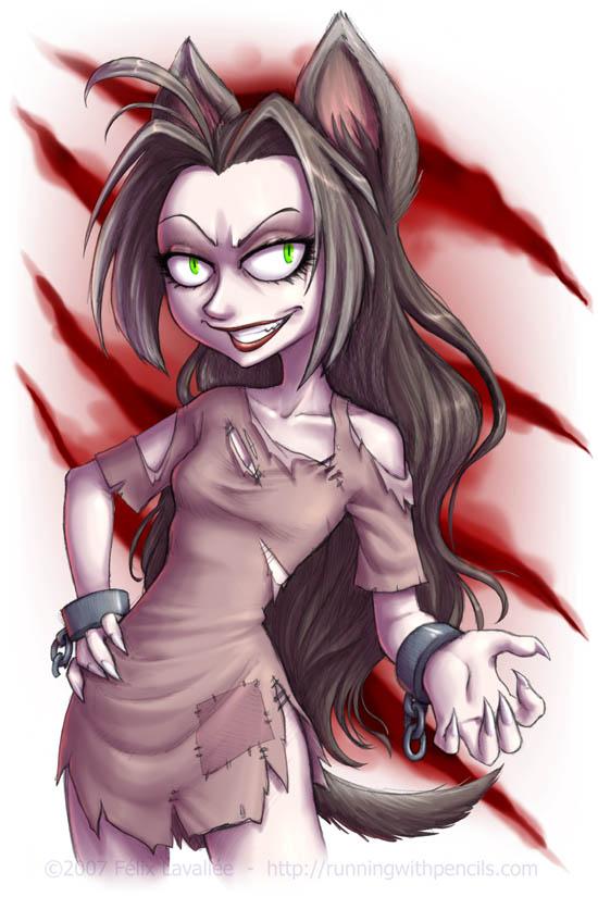 Annaira the wild werewolf by falingard