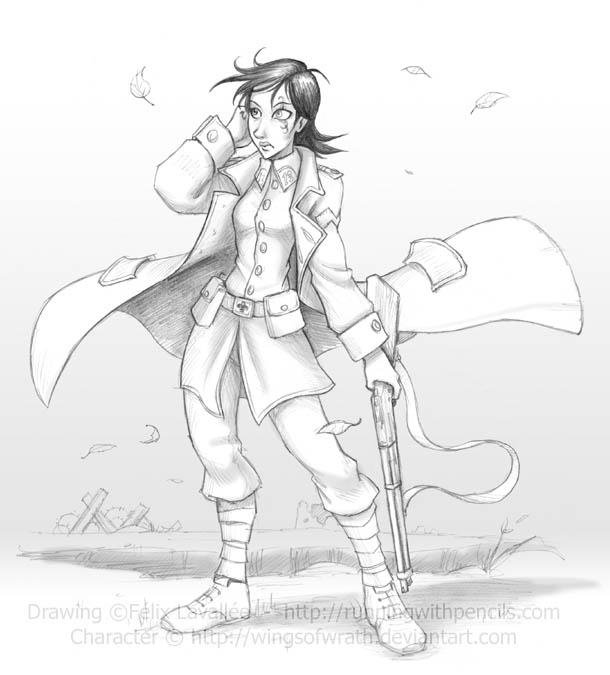 Jeanne for WingsOfWrath by falingard