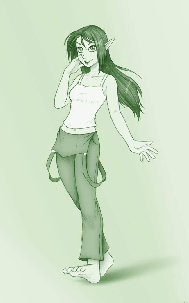 Sketch trade: Elissa by falingard