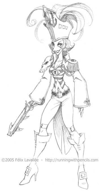 Pirate Goddess by falingard