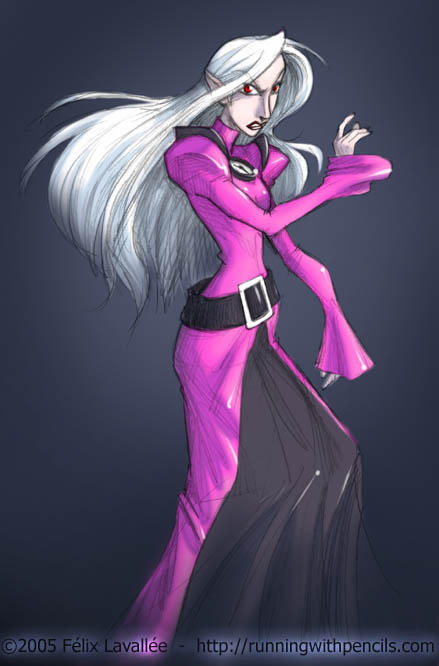 Badass in a pink dress by falingard