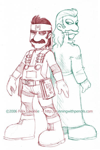 Mario Gear Solid by falingard
