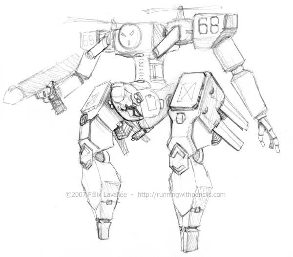 Robot002 by falingard