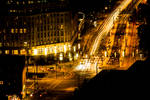 Berlin at night from hotel. by Mithcair