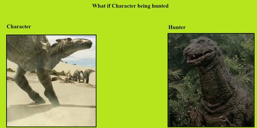 Saurolophus Is Hunted By Godzillasaurus