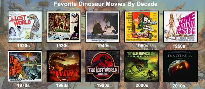Favorite Dinosaur Movies By Decade