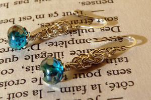 Silver and Blue earrings by O-Mio-O