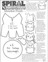 Plushie Pattern: Spiral Knights Mewkat by BaileyNickerson