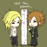 not tall enough. by yamasakirice