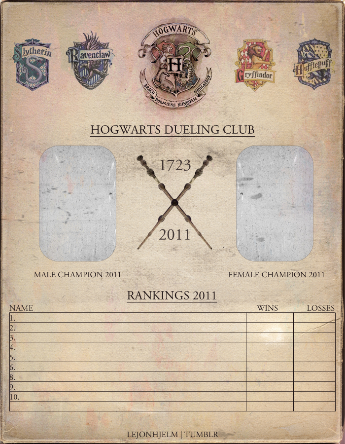 Hogwarts Dueling Club By Kanintass On Deviantart