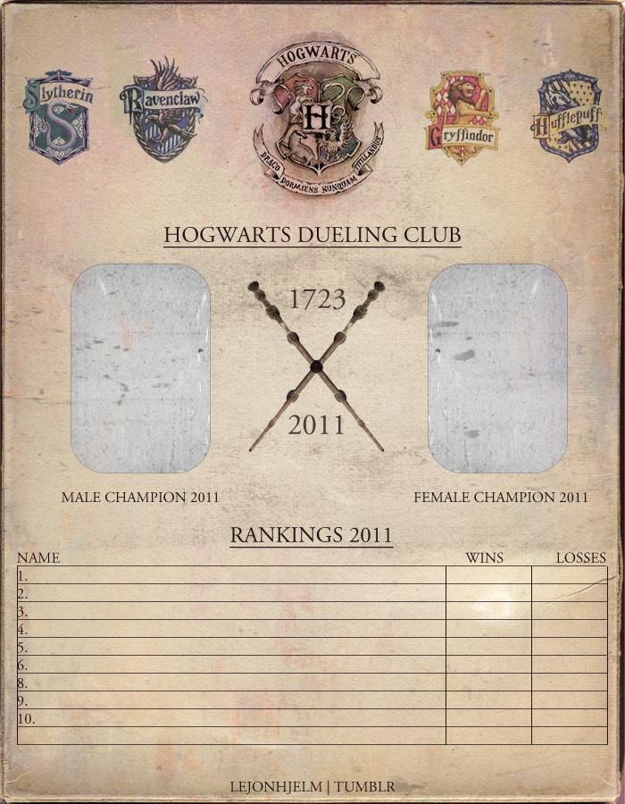 Hogwarts Dueling Club By Kanintass On Deviantart